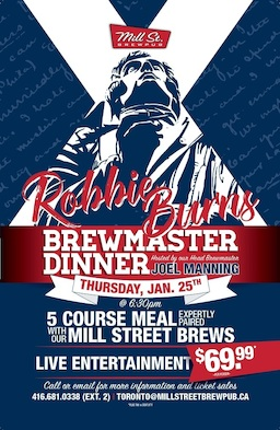 Robbie Burns Brewmasters Dinner