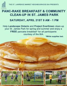 St. James Park Community Clean Up and Pancake Breakfast