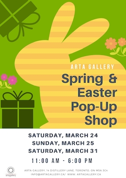 Spring & Easter Pop Up Shop at Arta Gallery